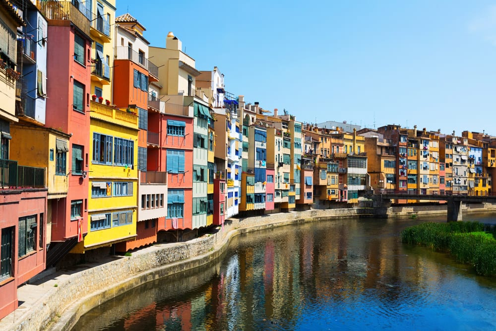 View of girona with river